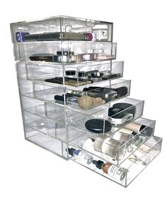 The GRAND™ Glamour Glass Clear Cosmetic Cube by GlamourGlassCubes