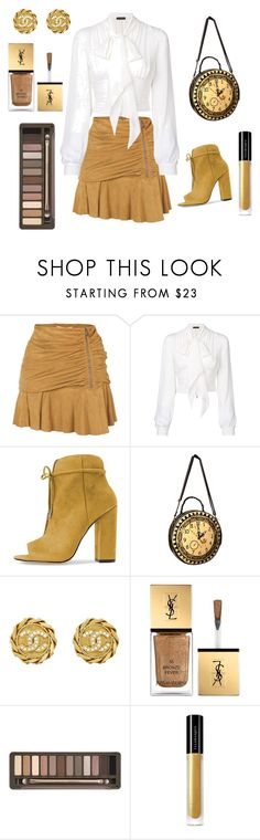 """Fall in love with gold!"" by channelnparis on Polyvore featuring Veronica Beard, Plein Sud, Chanel, Yves Saint Laurent, Urban Decay and Illamasqua"