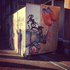 """""""Quick piece Amsterdam #dziakrank #streetart #amsterdam #dzia #graffiti #lineart #rhino #lineart"""""""