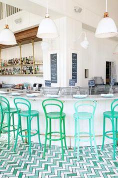 sfgirlbybay / bohemian modern style from a san francisco girl Design Café, Store Design, Interior Design, Commercial Design, Commercial Interiors, Seattle Bars, Bar Restaurant Design, Architecture Restaurant, Commercial Flooring