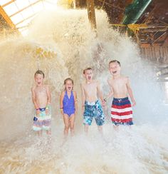 Great Wolf Lodge Bucket List - Get SOAKED by the Tipping Bucket.   Family Vacation
