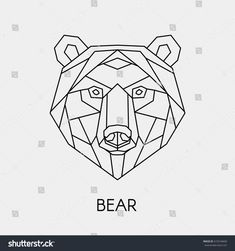 Find Vector Abstract Polygon Head Bear Geometric stock images in HD and millions of other royalty-free stock photos, illustrations and vectors in the Shutterstock collection. Thousands of new, high-quality pictures added every day. Geometric Bear Tattoo, Geometric Quilt, Geometric Drawing, Geometric Lines, Bear Tattoos, Polygon Art, Animal Doodles, Cactus Painting, Wood Animal