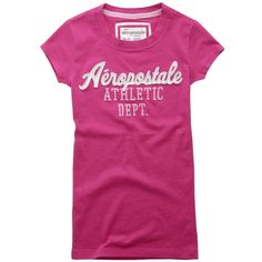 Script Aero Athletic Graphic T - Aéropostale® ($25) ❤ liked on Polyvore featuring aéropostale
