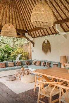 Home, Bali House, House Design, Sweet Home, New Homes, Rattan Pendant Light, Interior Design, Bali Style Home, Outdoor Living