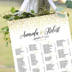 Wedding seating chart alphabetical