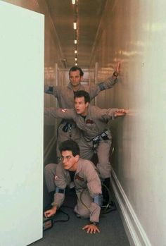 Harold Ramis, Dan Aykroyd, and Bill Murray in Ghostbusters 1984