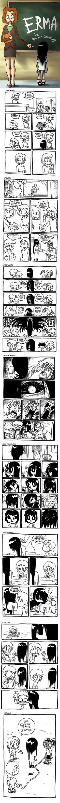 """Something that I had done for freshman year of college. Thought this might be interesting to post up. Just a series of mini comics that dives into one little scenario: """" What would happen if a blac..."""