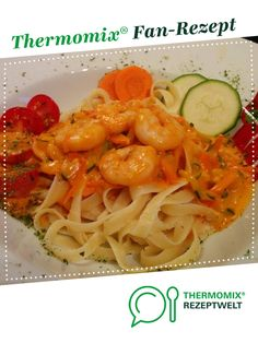 Pasta scampi / noodles with prawns from A Thermomix ® recipe from the main course with fish & seafood category at www.de, the Thermomix ® community. Pasta scampi / pasta with shrimp Martina Haack Pasta Pasta scampi Chicken Pasta Salad Recipes, Healthy Pasta Salad, Shrimp Recipes Easy, Healthy Pastas, Cajun Recipes, Broccoli Recipes, Healthy Italian Recipes, Italian Pasta Recipes, Pasta Salad Italian