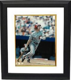 84275918997 Lenny Dykstra signed Philadelphia Phillies 8X10 Photo Custom Framed  (batting)