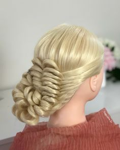 Knot hairstyle for long and medium hair