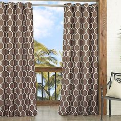 Parasol Totten Key Trellis 84-Inch Window Curtain Panel