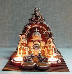 Mézeskalács művészet   Mosolyszendvics Christmas Gingerbread House, Christmas Nativity, A Christmas Story, Christmas Treats, Christmas Baking, Gingerbread Cookies, Christmas Fun, Christmas Cookies, Gingerbread Houses