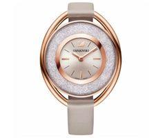Swarovski Crystal - Crystalline Oval Watch, Grey & Rose Gold
