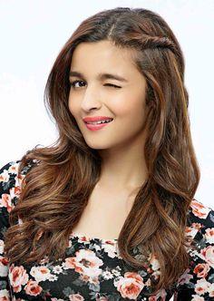 Alia Bhatt cute hair style.