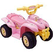 Disney Beauty and the Beast 6 Volt Power Quad by Winston. $138.99. Design: Durable, plastic construction. Age - 18-36 Months - Weight capacity: up to 45 lbs.. Features: built-in foot rests, push-button controlled. Ride On requires one 6-Volt battery (included). Maximum speed: 2 mph on hard surfaces. Give your little one a sense of adventure with the Disney Mini Quad 6-Volt Battery-Powered Ride-On. This push-button controlled Disney Mini Quad ride-on is specially designed t...