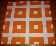 Quilt -- Orange and White backing option