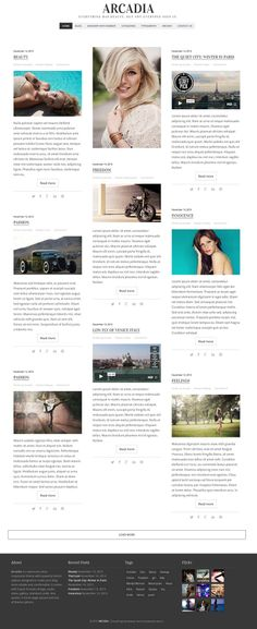 Arcadia - #Responsive #WordPress #Blog #Theme also for #magazines