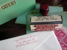 stamp - less expensive than actual calligraphy