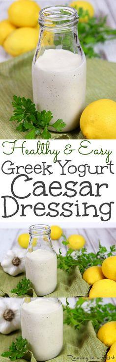 Greek Yogurt Caesar Dressing recipe / Running in a Skirt