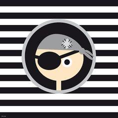 Imagem Pirata preto e branco