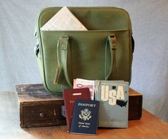 Royal Traveller Weekend bag by strictlyvintagegoods on Etsy