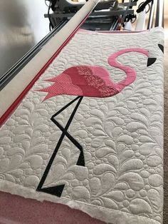 Flamingo Hearts Pink Beige Linen Look High Quality Fabric Material *3 Sizes*