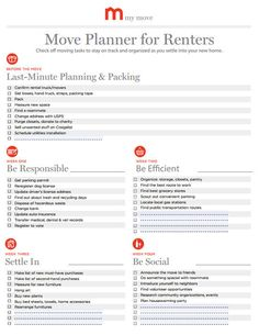 Moving Planners for an Organized Move | My Move