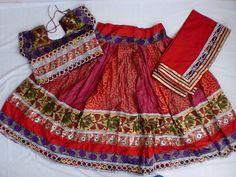 Navratri chaniya choli Designer Indian Red and Golden by mfussion, $95.00