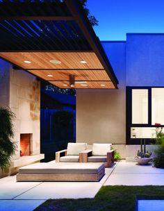 Dry Creek House by Brian Dillard Architecture   I like the outdoor fire place