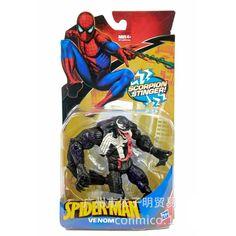 "Free Shipping Marvel Universe Spiderman Venom PVC Action Figures Loose Toy 6"" 18CM E29"