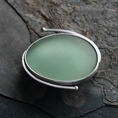 Beach Glass Pin - I really would love a brooch like this!