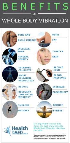 Benefits of Whole Body Vibration. Experience these benefits for yourself at…