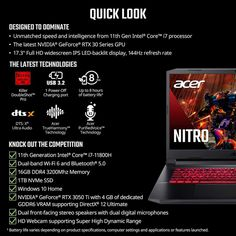 Acer Nitro 5 AN517-54-79L1 Laptop with Windows 11 Listed on Amazon US 3