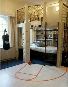 Awesome sporty boys bedroom