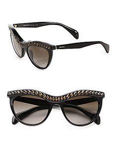 7d31be802e Prada 38621 NAC6S1 Black 04PS Portrait Cats Eyes Sunglasses Lens Category 3  ** BEST VALUE BUY on Amazon #Sunglasses50Off