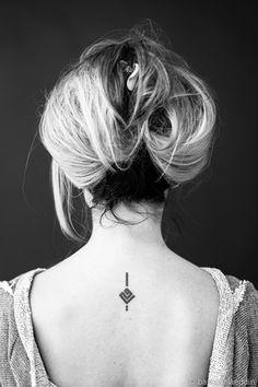 """Name:   Diala    Tattoo:   The word """"My Mother"""", designed by  Hayan Maani . Tattooed in Amman, Jordan."""