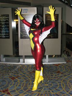 Spider-Woman (Jessica Drew) #cosplay. From: Spiderman Marvel Comic Series. Cosplay By: Camille Elizabeth Bishop 'aka' Milla Cosplay. Residence: Orlando, Florida. Event: Dragon Con 2011. Photo: DuckPuppy.