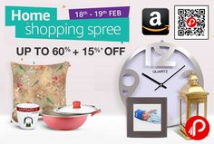 Amazon #Home #Shopping #Spree is offering Upto 60% + 15% off on Home Kitchen Products.  http://www.paisebachaoindia.com/home-shopping-spree-upto-60-15-off-on-home-kitchen-products-amazon/