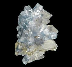Apatite (color change crystals) on Quartz from Barroca Grande Mine, Panasqueira, Covilhã, Castelo Branco District, Portugal…