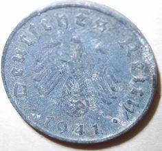1941 Nazi Deutsches Reich coin