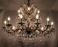Antique crystals for chandeliers