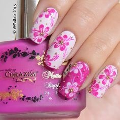 Here are some hot nail art designs that you will definitely love and you can make your own. You'll be in love with your nails on a daily basis. Cute Nail Art, Cute Nails, Pretty Nails, Fabulous Nails, Gorgeous Nails, Spring Nails, Summer Nails, Finger Nail Art, Floral Nail Art