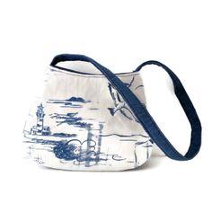 Small shoulder Bag Denim blue and white beach by gypsygirlfashions, $22.00