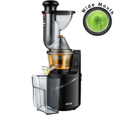 "Juicer Machine Masticating Slow Juicer Extractor,  Aicok 3"" Big Mouth Whole Masticating Juicer with Juice Jug and Brush, Quiet Motor and High Nutrient for Fruit and Vegetable Juice"