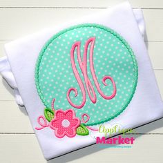 Applique Market has a wonderful selection for all of your holiday custom design needs. Spring time is a great time of year for customized clothing with our Flower Beaded Frame applique design.