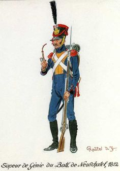 Swiss; Neuchatel Battalion Sapper of Engineers 1812