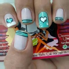 Gel Nail Designs You Should Try Out – Your Beautiful Nails Funky Nails, Love Nails, How To Do Nails, Pretty Nails, Short Nail Designs, Toe Nail Designs, Simple Nail Designs, French Nails, Gel Nagel Design