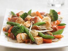 Sauté Asiatique Légumes et Saucisses