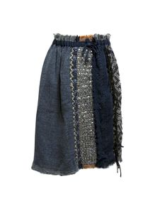 As Know As de Base blue skirt  Coloured skirt with removable underskirt, it's possible to wear in many way with the prefer part always stand out    Composition: 100% wool Underskirt: 50% acrylic 50% polyester