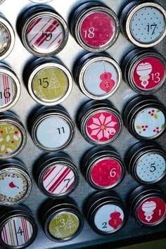 DIY advent calendar . Holds treats for each day. wonderful blogspot